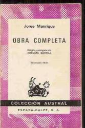 Manrique: Obra Completa (Spanish Edition)