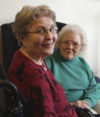 Two senior women