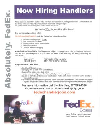 Indy Hub Handler Flyer