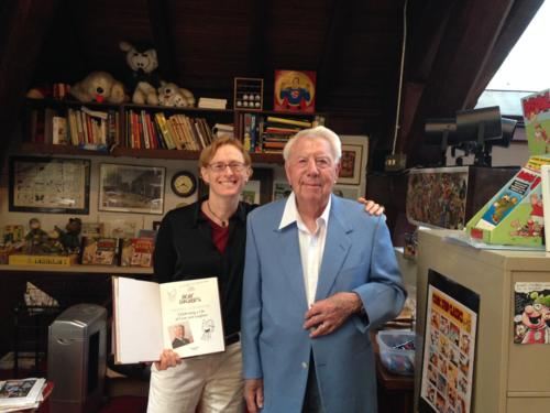 Hilary Price visiting Mort Walker 2014
