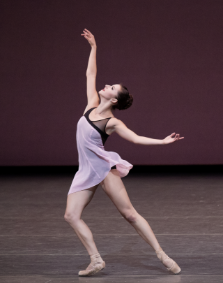 Indiana Woodward in Lauren Lovette's For Clara. Photo credit Paul Kolnik