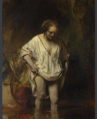 Rembrandt-woman-bathing-stream-NG54-r-half