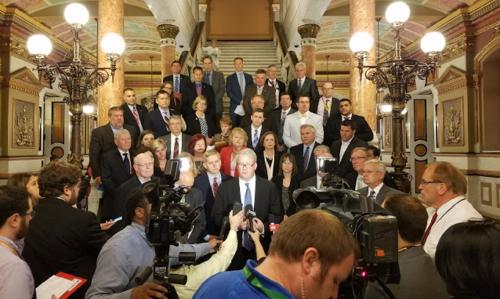 GOP members on budget vote