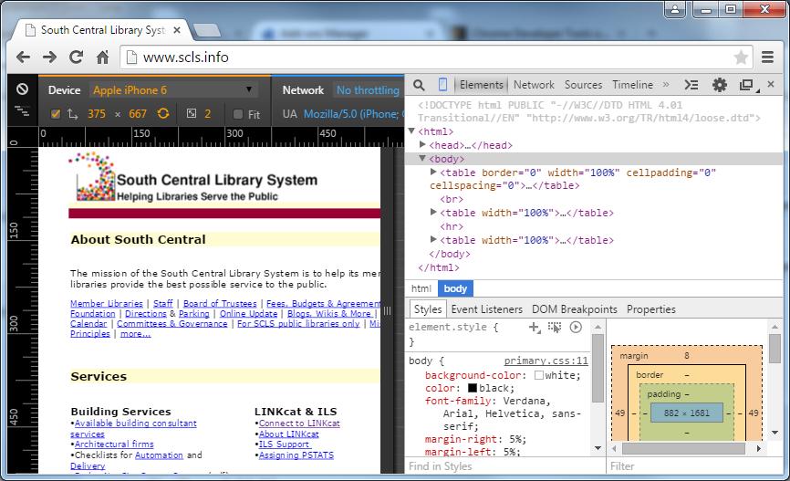 TechBits: F12 for website developer tools & device modes
