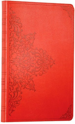 : ESV Thinline Bible, TruTone, Cranberry, Filigree Design,  Red Letter Text