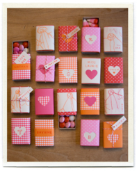 DIY matchbox Valentine's Day gifts