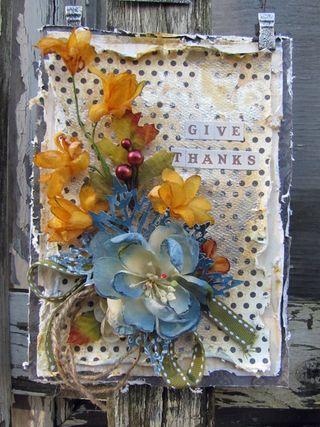 Give Thanks Card ~ Lynne Forsythe