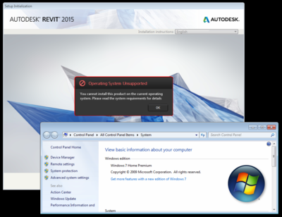 Windows 7 no SP Revit 2015