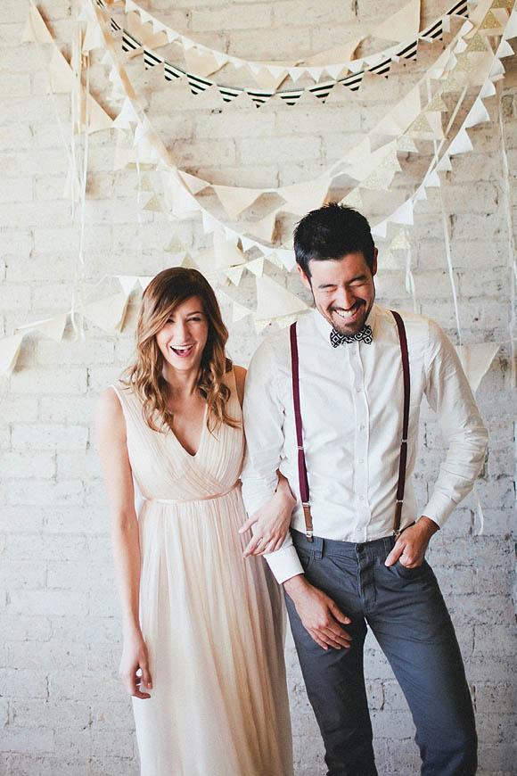 banderines photocall boda