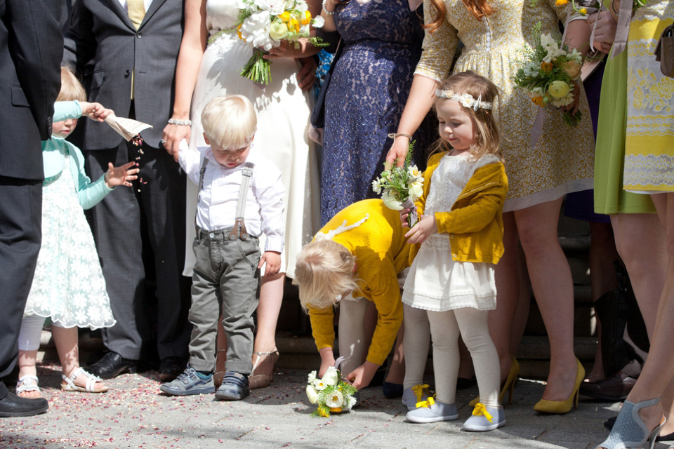 Minna wedding dress // Spring time yellow wedding // London Canal Museum Wedding // Richmond Pictures