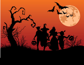 HALLOWEEN_silhouettes-of-children-trick-or-treating-in-costume