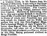 Article from Public Advertiser 7 June 1779