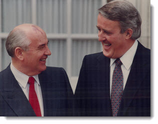 Mikhail Gorbachev and Brian Mulroney, 1990