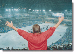 The official opening of the dome ushered in a new era for the followers of sports in Toronto, 1989