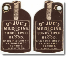 Dr. Jug's medicine for lungs, liver and blood, 1886