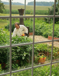 Chef in the garden - photo: Hideaway Country Inn