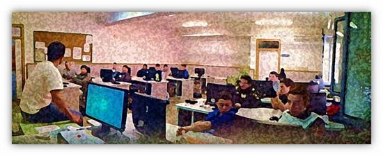 Grupo/clase del Programa de Cualificación Profesional Inicial (PCPI) del IES 'José Rodrigo Botet'