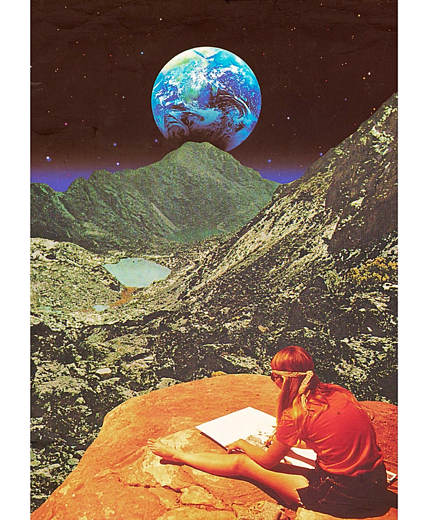Lejos de la tierra: Collage Art by Mariano Peccinetti