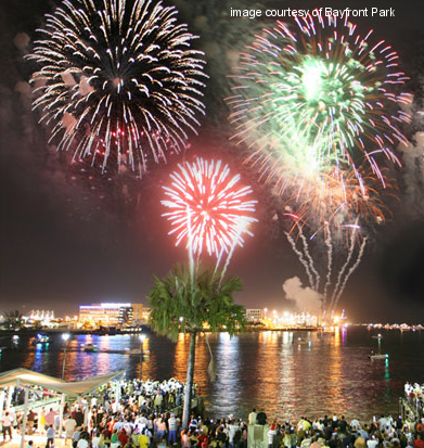 Bayfront Park Downtown Miami-JULY 4th 2012 CELEBRATION!!