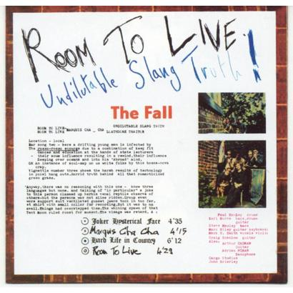 52 Weeks Of The Fall: Week #11   Room To Live (Undilutable Slang Truth!)    The Ruckus | Record Reviews, MP3s, Videos Part 4