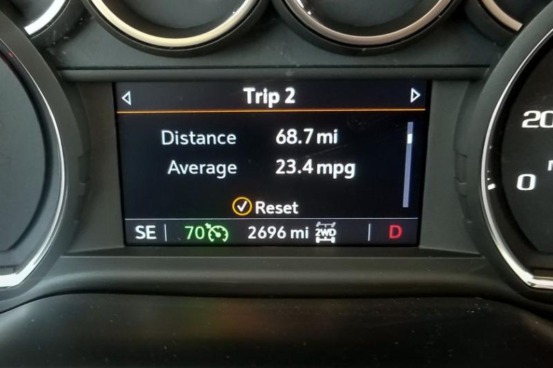 2019 Chevrolet Silverado 1500 2.7-Lite Trip Computer Display