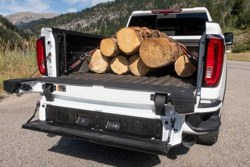 2020 GMC Sierra 1500 AT4 Bed Loaded With Logs