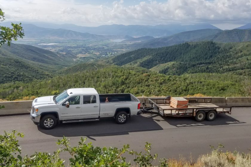 2017 GMC Sierra 3500 Towing In Mountains