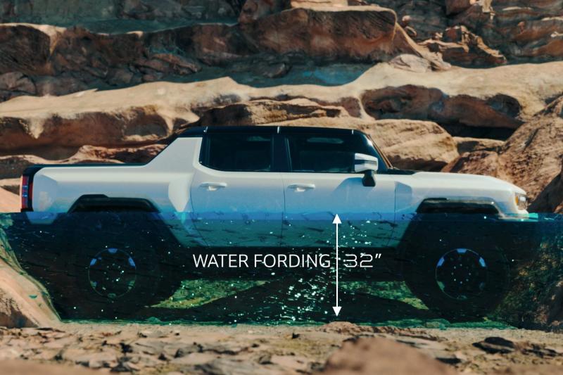 2022 GMC Hummer EV Water Fording Simulation