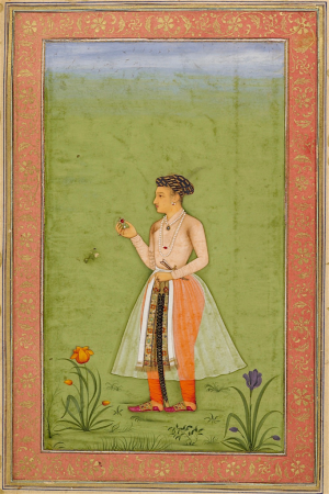 Dara Shikoh with a jewel, attributed to Chitarman, c. 1630 (British Library Add.Or.3129, f.27v)