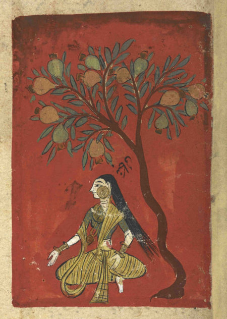 Bangālī, the third rāginī of Rag Bhairav (British Library Or. 12857, f. 76r)