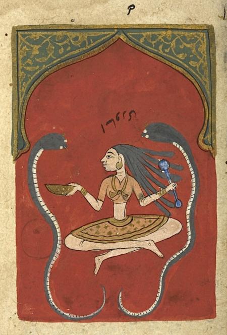 Asavari, the second rāginī of Malkausik (British Library Or.12857, f. 102r)