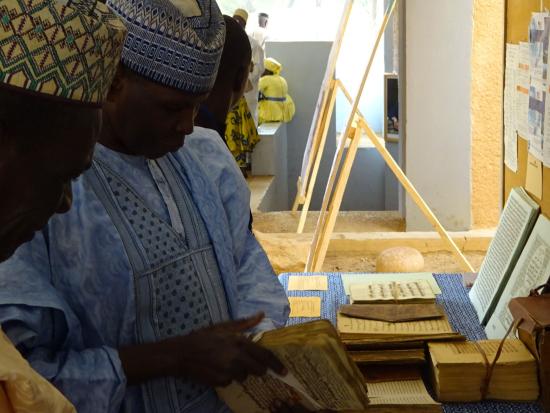 A selection of manuscripts on display at a Colloquium held at IRSH (© IRSH, Université Abdou Moumouni)