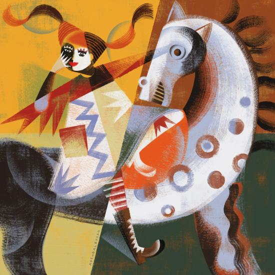 """Interpretación libre del famoso personaje Pippi Langstrumpf para la muestra """"Pippi nelle figure"""" de la Cooperativa Cultural Giannino Stoppani. Balbusso 2007."""