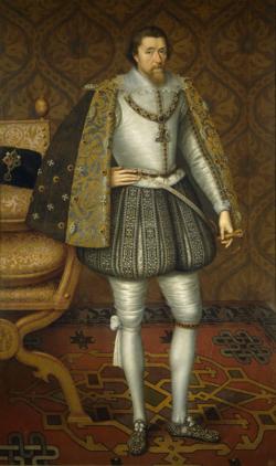 Jacobo VI de Escocia y I de Inglaterra (atr. John de Critz, Museo del Prado)