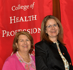 Professors Julie Stewart and Sue DeNisco