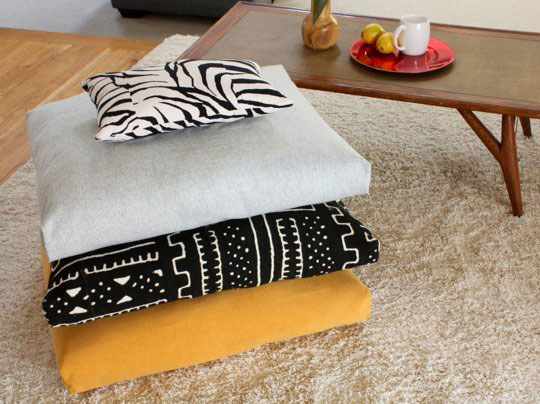 Simple DIY Floor Cushions