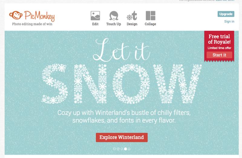 PicMonkey homepage