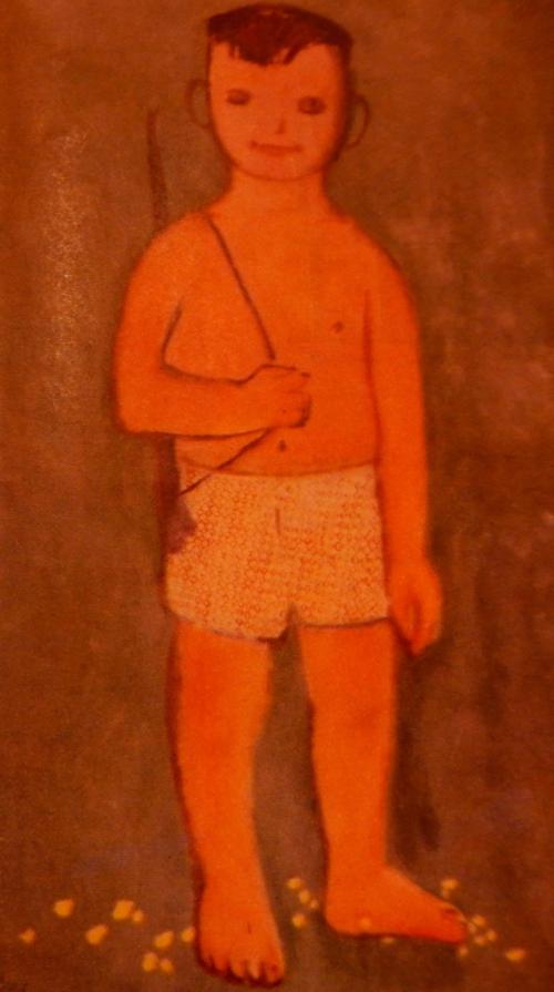 'Tiny guerrilla' (Du kích tý hon) by Lưư Công Nhân. Việt Nam,  no.106,  7, 1966, p. 106. British Library, SU216
