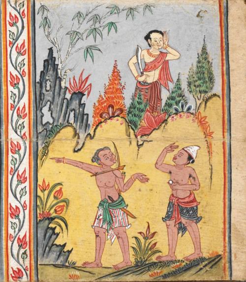 Thai manuscript of Mahābuddhagunā and other Buddhist texts, 18th century. British Library, Or 14068, f. 7