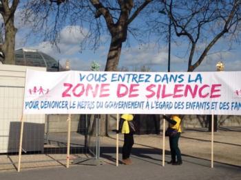 P - Slogan zone de silence paris