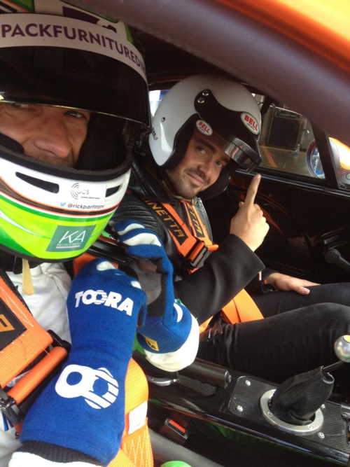 Me in the Ginetta