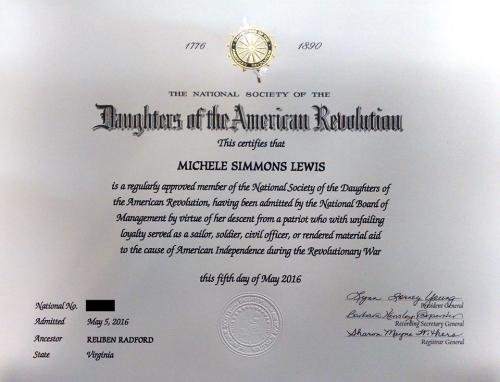DAR certificate