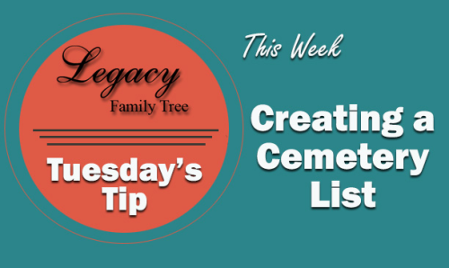 Creating a Cemetery List