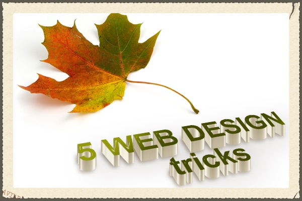 5-web-design-tricks