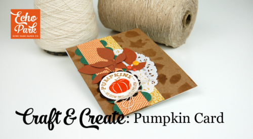Pumpkin Card Video Tutorial by Jen Gallacher for #EchoParkPaper.  Check out their YouTube channel for this project, and many more!