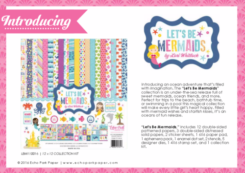 "Echo Park's ""Let's Be Mermaids"" Product Catalog"