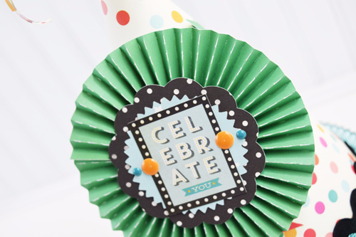 """DIY Party Hats by Becki Adams with the """"Party Time"""" collection from #EchoParkPaper"""