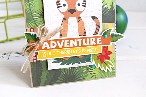 """Create a """"roaring"""" Cute Card with the """"Jungle Safari"""" collection by #EchoParkPaper"""