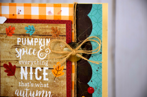 "Pumpkin Spice Card by Tya Smith with the ""A Perfect Autumn"" collection from #EchoParkPaper"