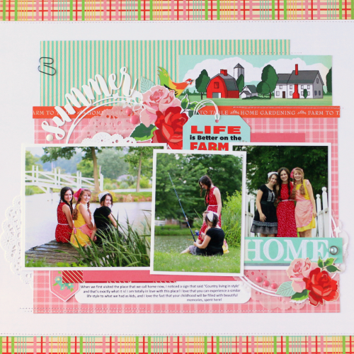 """Summer layout by Anya Lunchenko featuring the """"Country Kitchen"""" collection by #CartaBellaPaper"""
